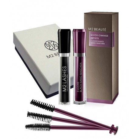 M2BEAUTE - Mascara 3 Looks Black Nano - 6ml