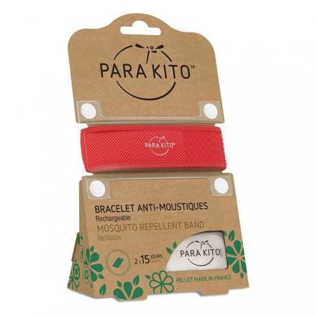 Para'Kito - Red Refills Mosquito Repellent Band + 2 Refills
