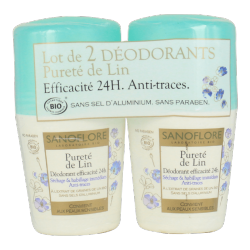 Sanoflore - Purity Of Lin Deodorant Ball - Lot of 2 x 50ml