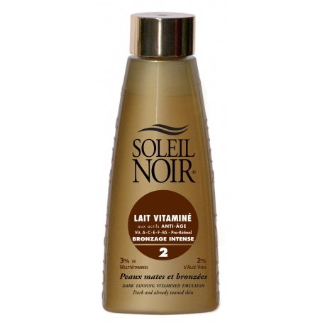 Soleil Noir - Milk with Vitamins SPF 2 - 150ml