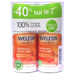 Weleda - Déodorants Roll-On Argousier Duo - 2x50ml
