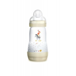 MAM - Biberon Easy Start Anti-Colique Blanc 0-6 Mois - 260ml