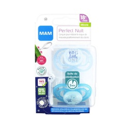 MAM - 2 Sucettes Perfect Rose/Violet +18 Mois Silicone