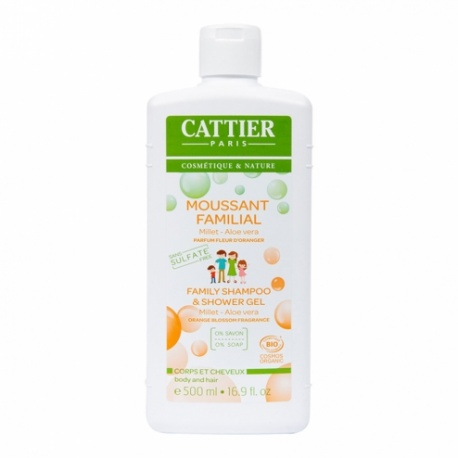 Cattier - Moussant Familial Corps&Cheveux - 500ml